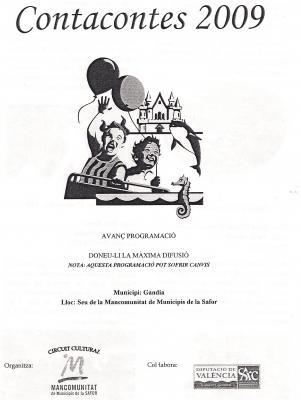CONTACONTES 2009. MANCOMUNITAT SAFOR