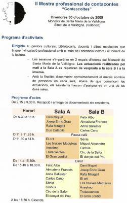 """II MOSTRA PROFESIONAL DE CONTACONTES """"CONTESESCOLTES"""""""